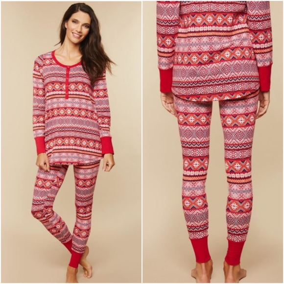 Motherhood Maternity Pajama Set Fair Isle XL NWT 7d5358516